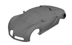 Bugatti Veyron 3D model Wireframe Topology