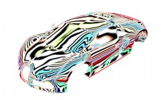 Bugatti Veyron 3D model Zebra Reflections