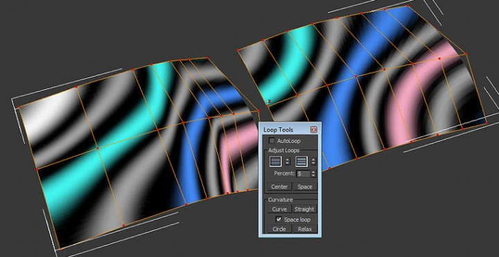 Mesh surface quality of reflections - Edge spacing