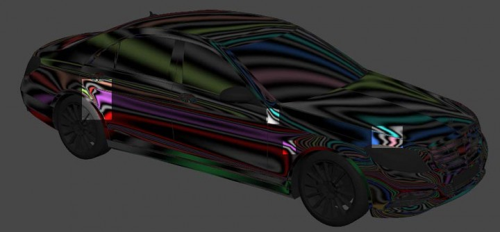 Car 3D model - Reflection Artifacts