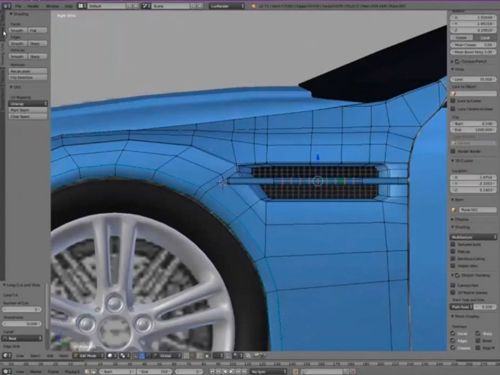 Aston Martin Blender 3d Modeling Tutorial Car Body Design