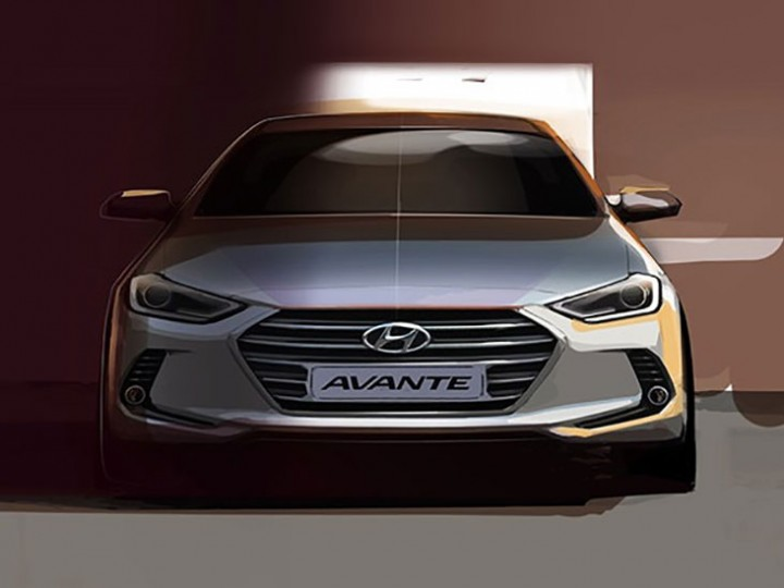 Hyundai Previews New Elantra With Design Sketches Car Body Design