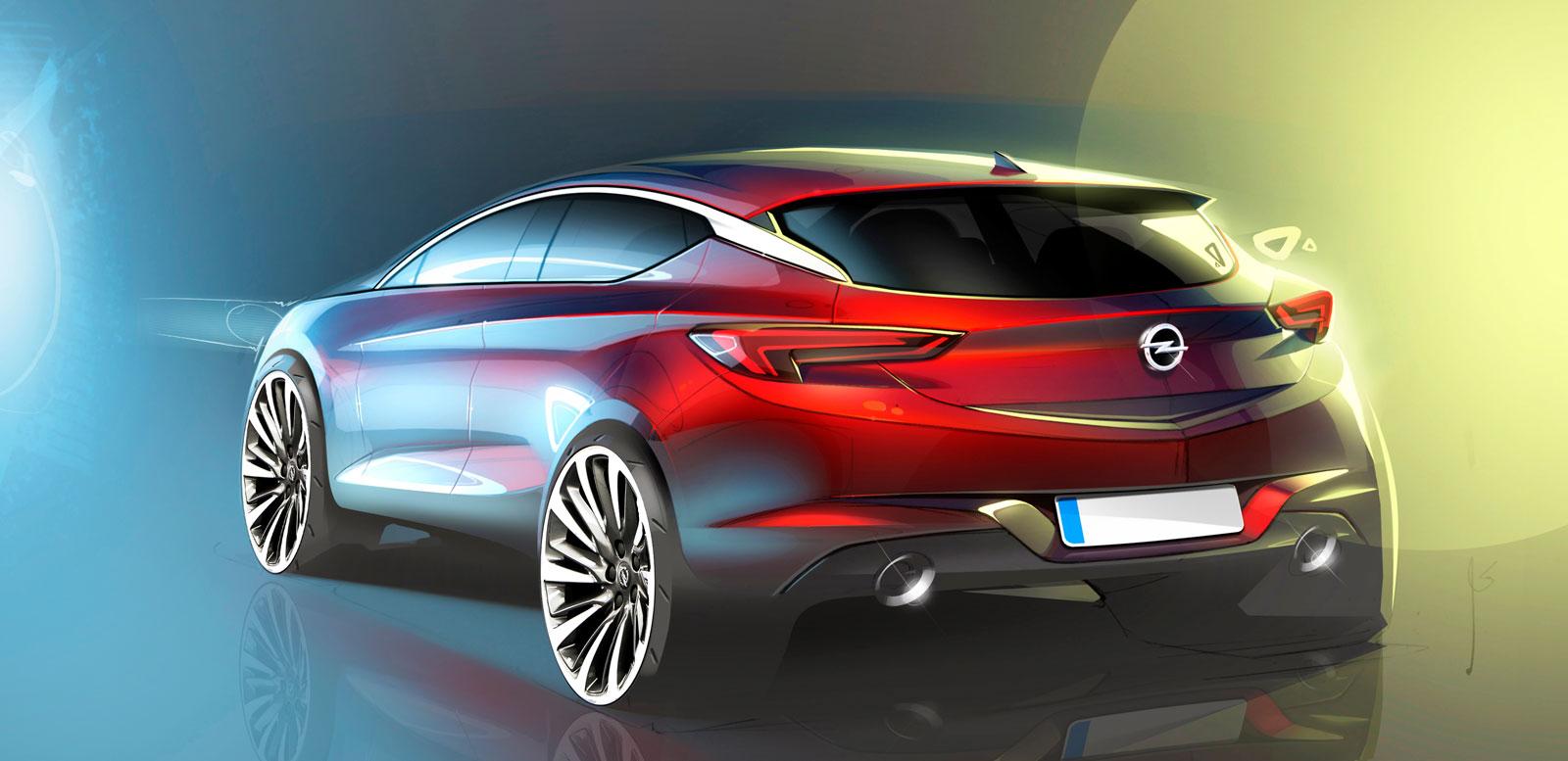 World Car Kia >> 2016 Opel Astra - Design Sketch - Car Body Design