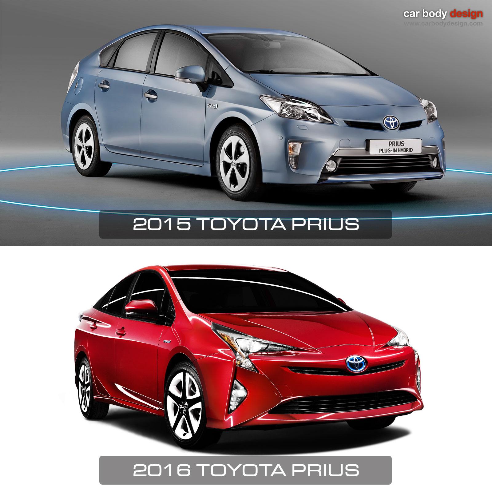 2016 Vs 2017 Toyota Prius Design Comparison
