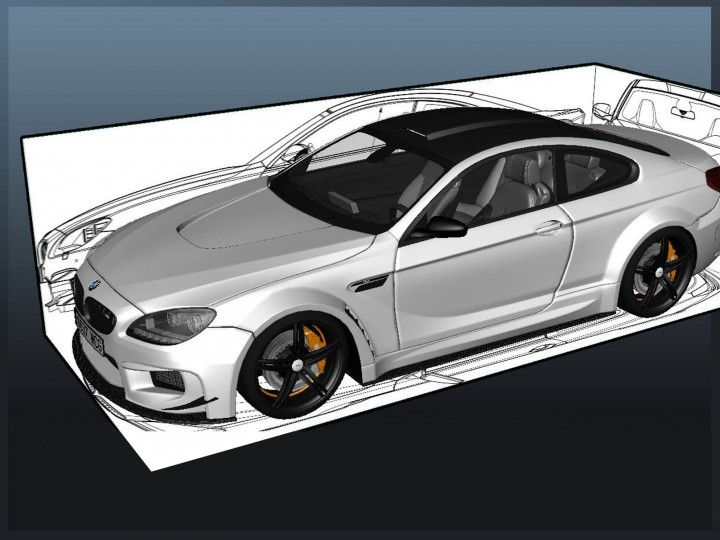 Car Blueprint Setup – Maya/Photoshop Tutorial