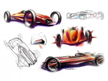Automotive 3D Concept Modeling in MODO 901 - Design Sketches