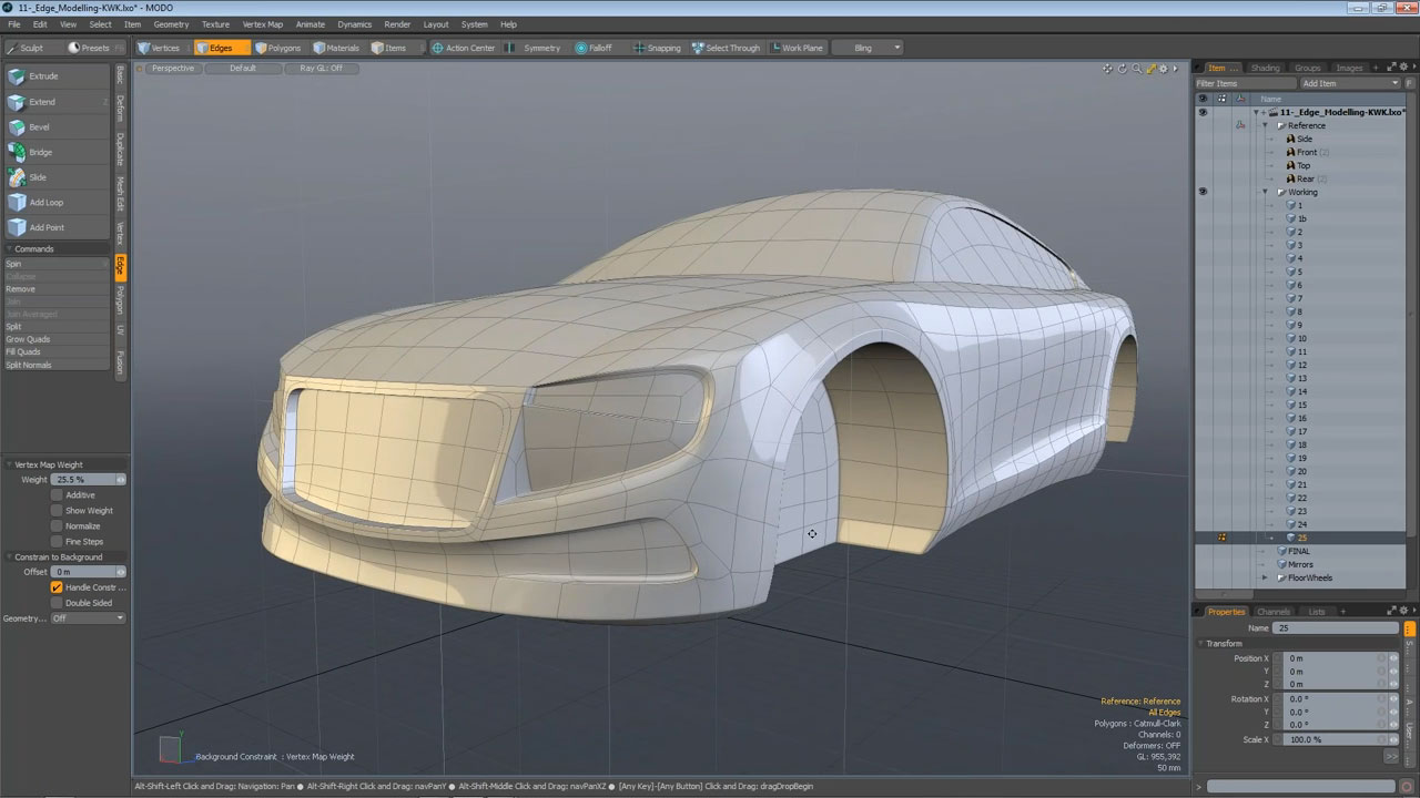 Concept Car 3D Polygon Model - MODO 901 screenshot