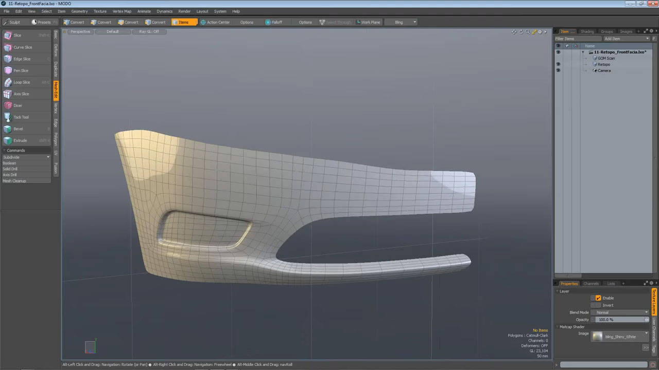 Retopologized Model in MODO 901
