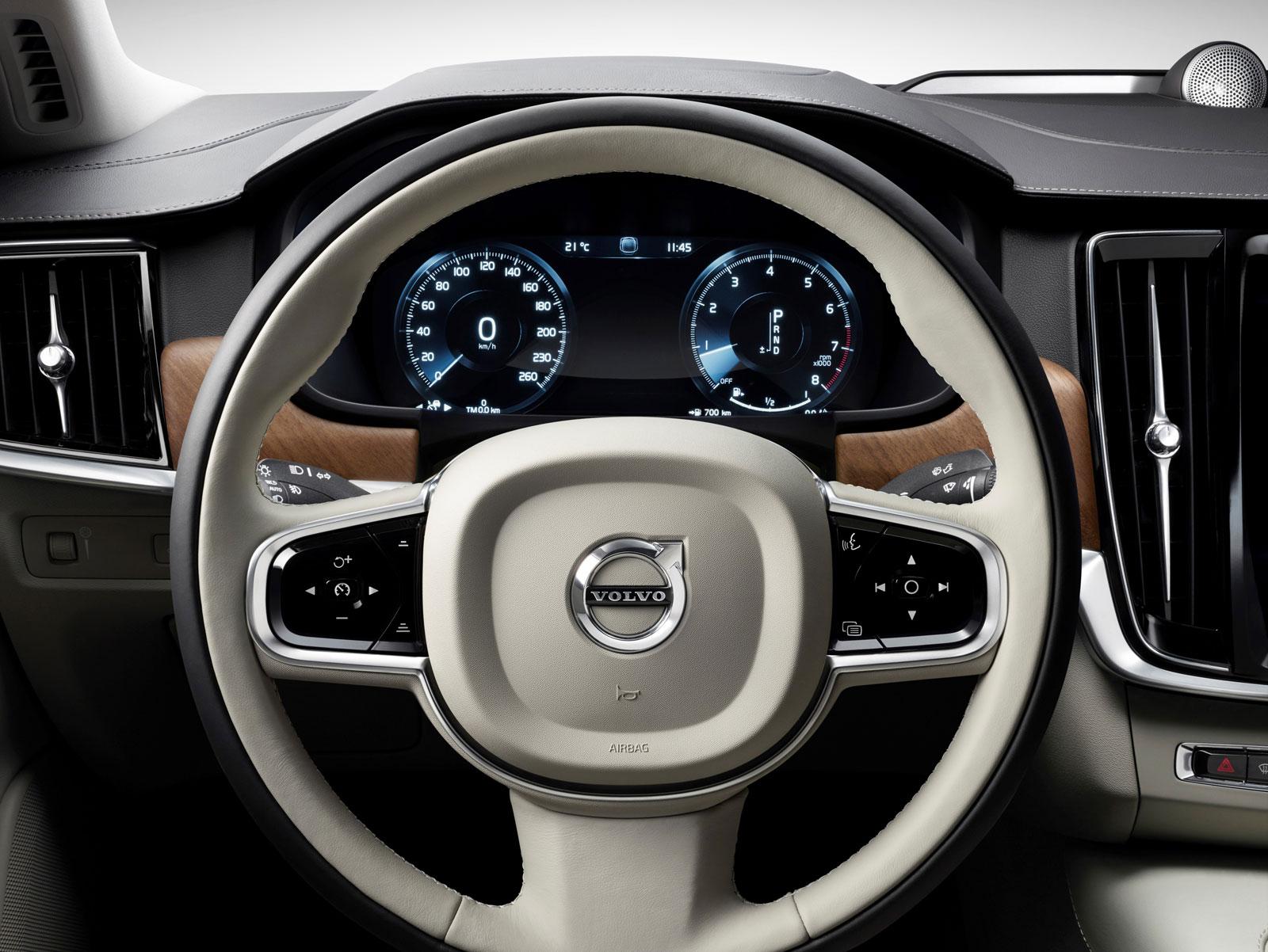 Volvo S90 Interior >> Volvo S90 Interior Steering Wheel Car Body Design