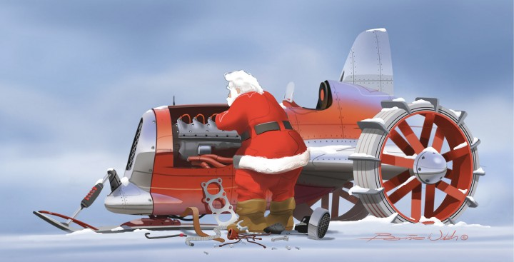 Santa Sleigh by Bernie Walsh