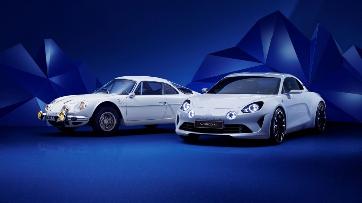Alpine Vision Concept and Alpine A110