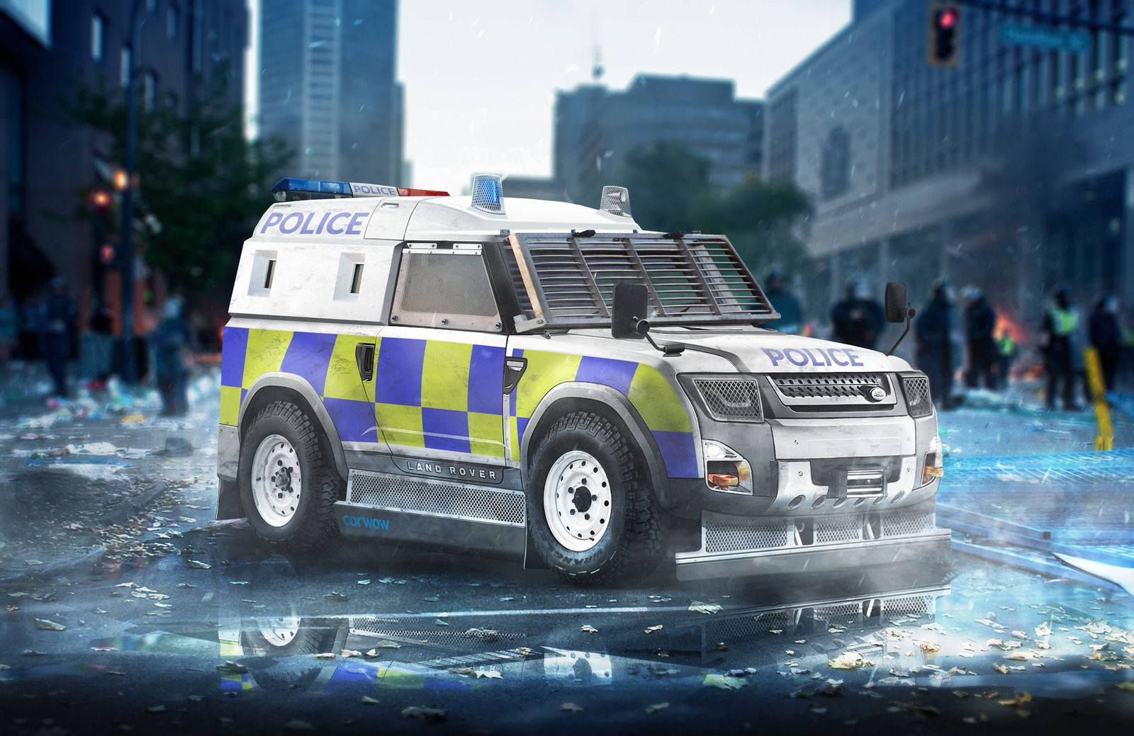 Land Rover Defender Concept Police Model Car Body Design
