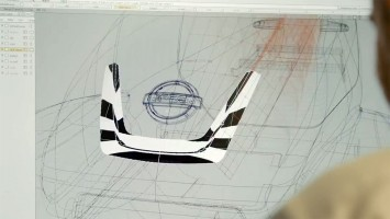 Nissan X-Trail Bobsleigh - Alias screenshot - zebra surface analysis