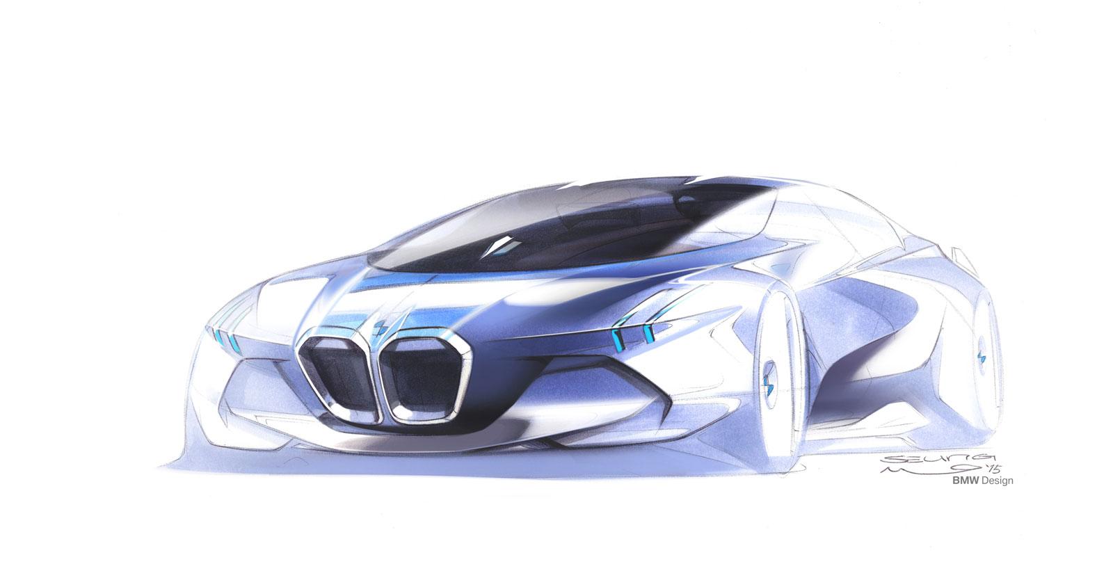 Bmw Vision Next 100 Concept Design Sketch Car Body Design