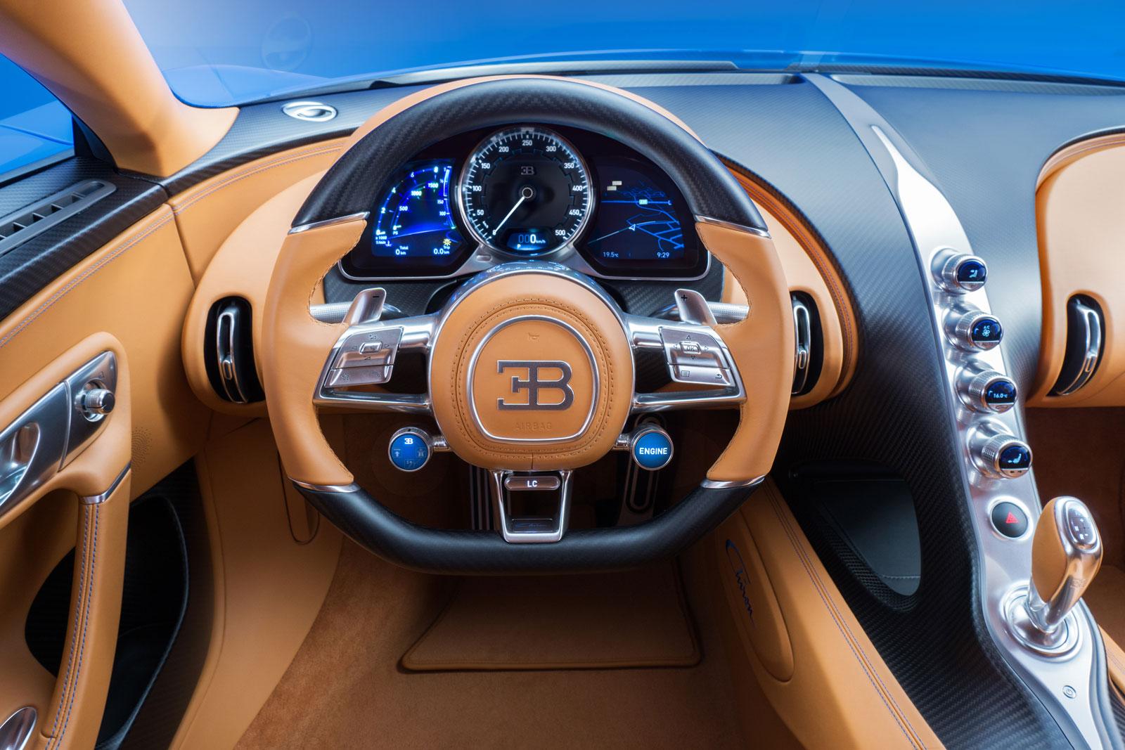 World Car Kia >> Bugatti Chiron interior - Steering wheel - Car Body Design