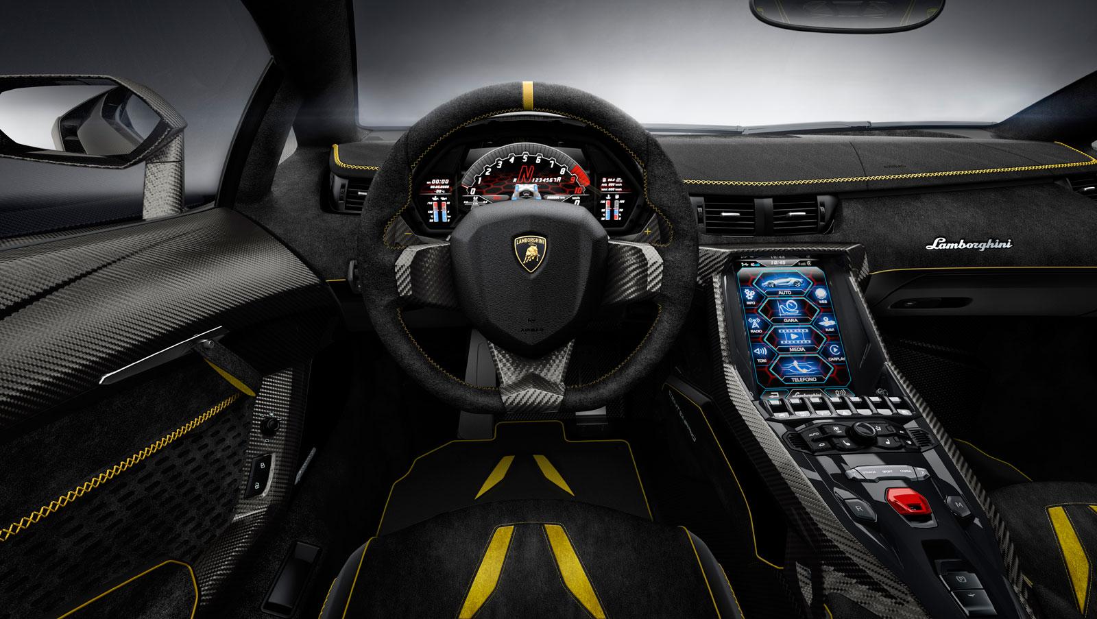 Lamborghini Centenario Interior Car Body Design