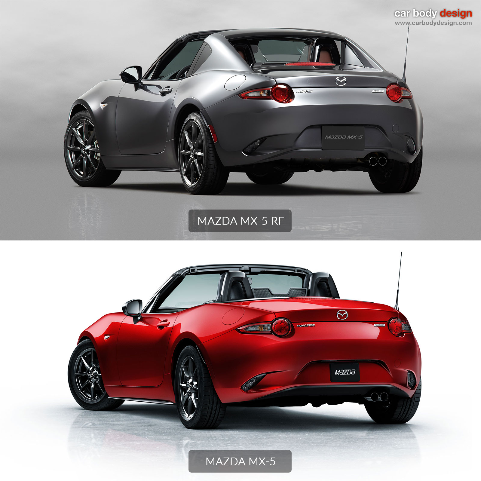 mazda mx-5 rf vs mx-5 - design comparison
