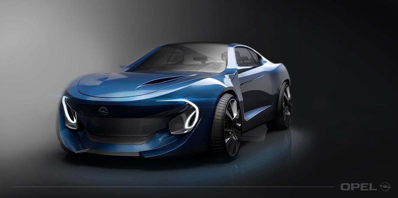 Opel Manta Concept 3d Rendering Car Body Design