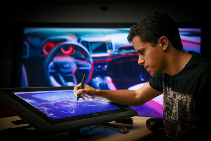 Fiat Toro - Designer Bruno Said sketching on the Cintiq