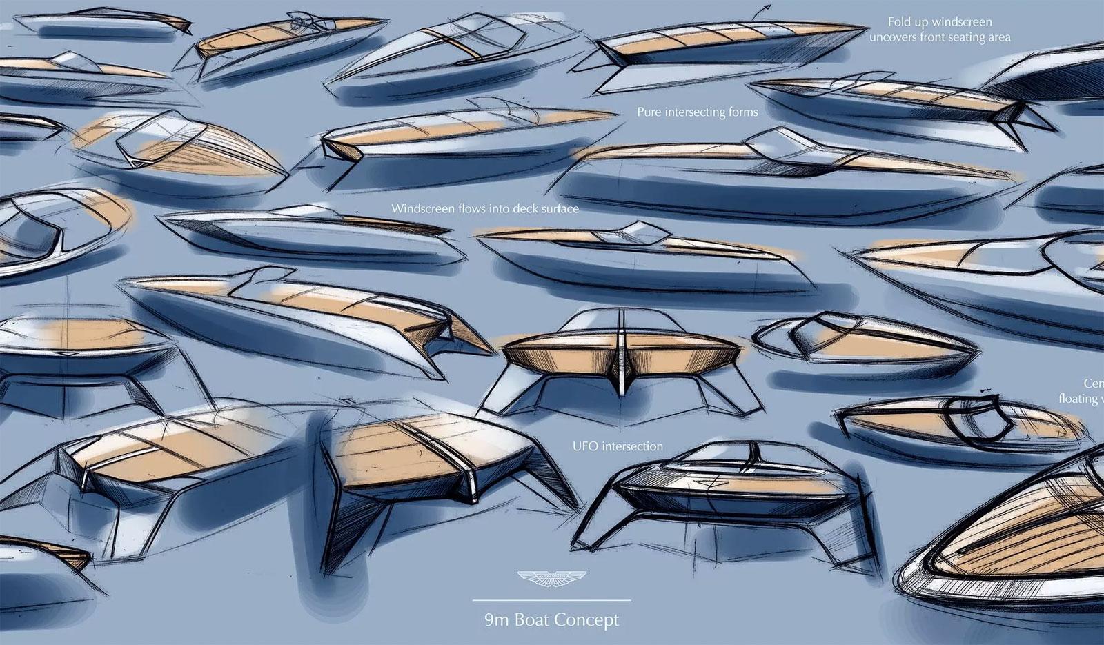 Aston Martin Am37 Powerboat Design Sketches Car Body Design