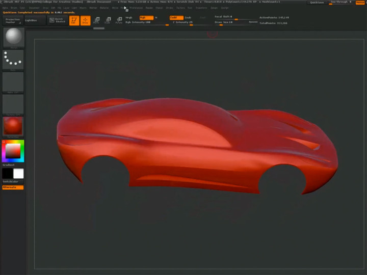 Car design process using Maya and ZBrush – Part 2