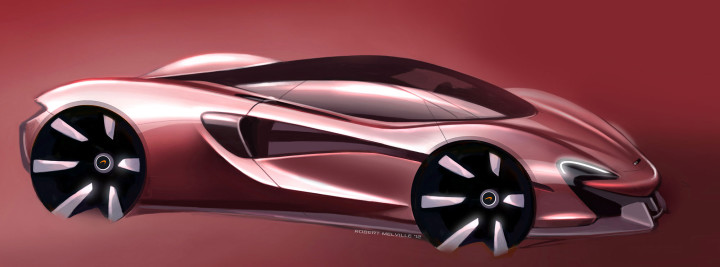 McLaren Design Sketch by Robert Melville