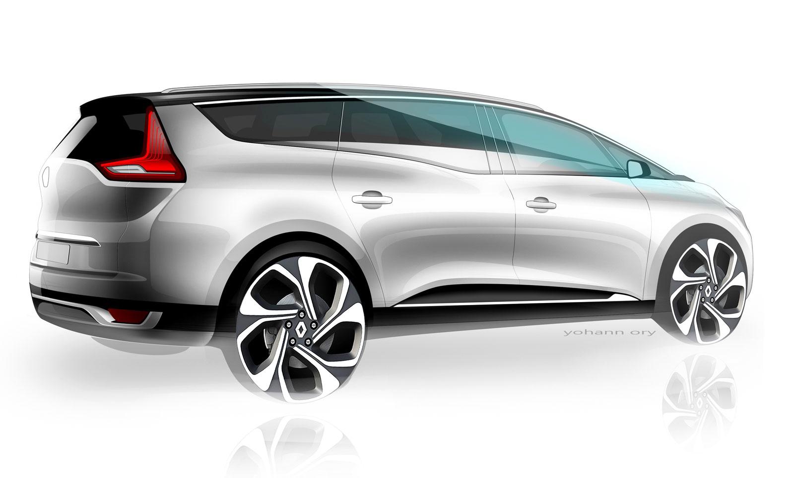 World Car Kia >> Renault Grand Scenic - Design Sketch Render - Car Body Design