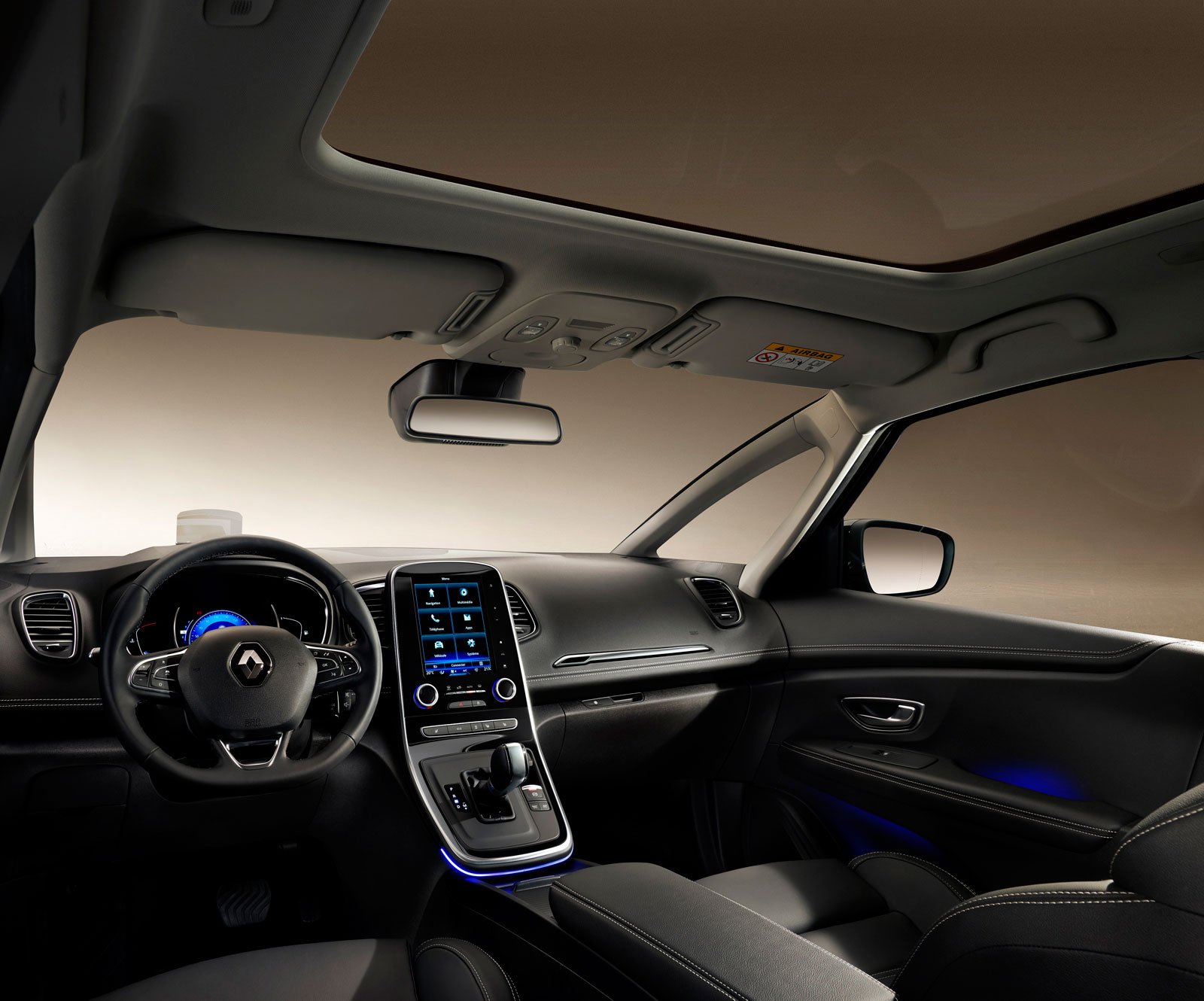 Renault Grand Scenic Interior Car Body Design