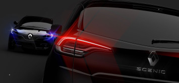 New Renault Scenic Tail Light Design Sketch Render by Stefano Bolis