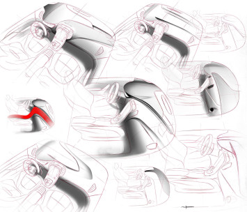 New Renault Scenic Interior Design Sketch by Maxime Pinol