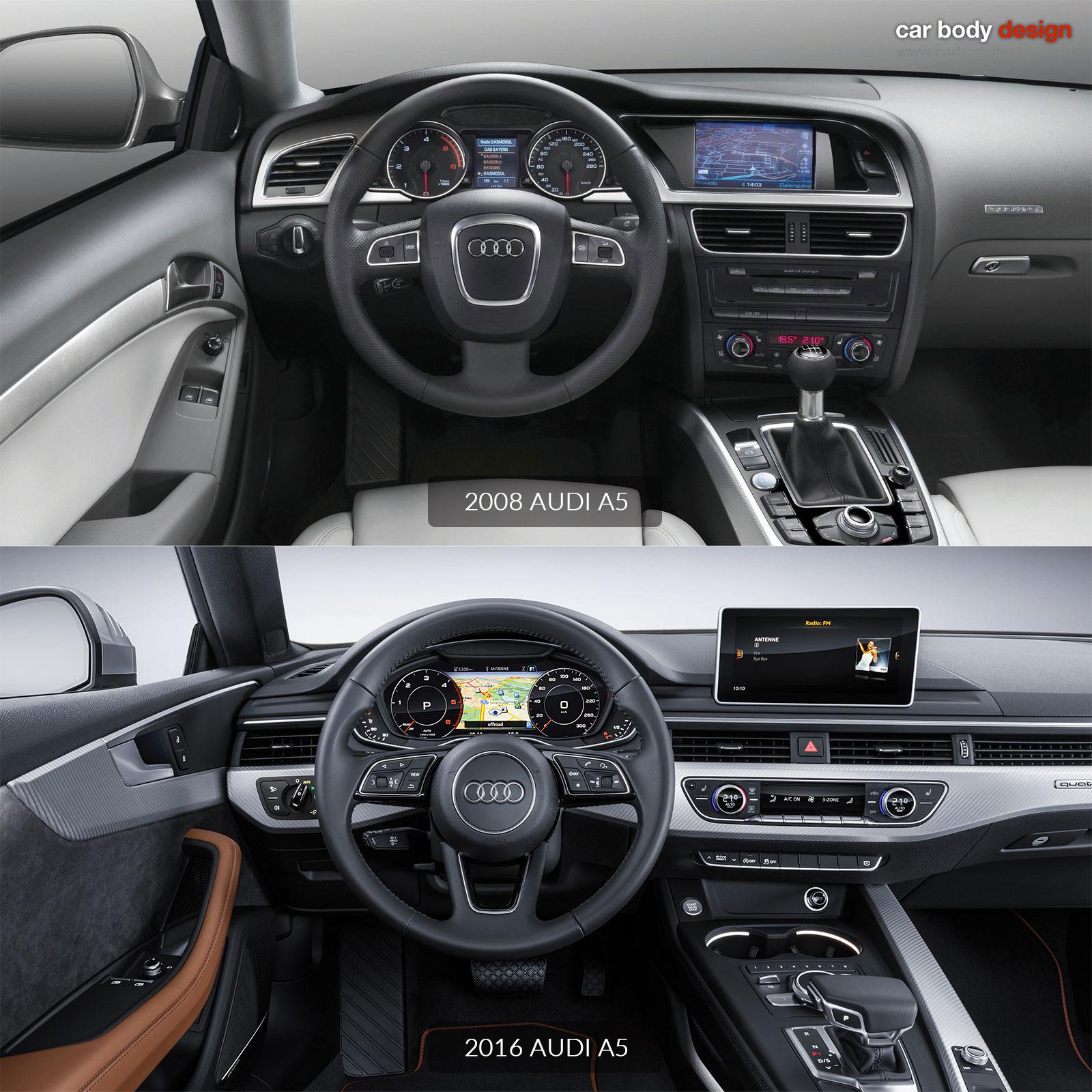 2008 Audi A5 Vs 2016 Interior Design Comparison