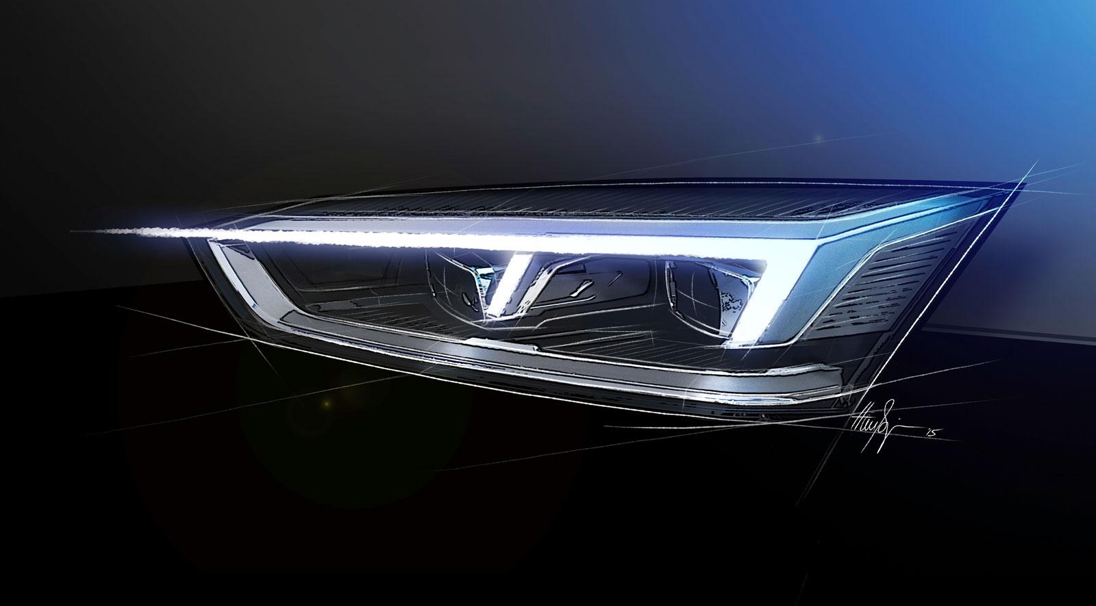 Audi A5 Coupe Headlight Design Sketch Render Car Body Design