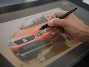Car Design at SEAT - Design Sketching on the Cintiq