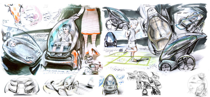 IED Pininfarina Entity and Companion Concept - Design Sketches
