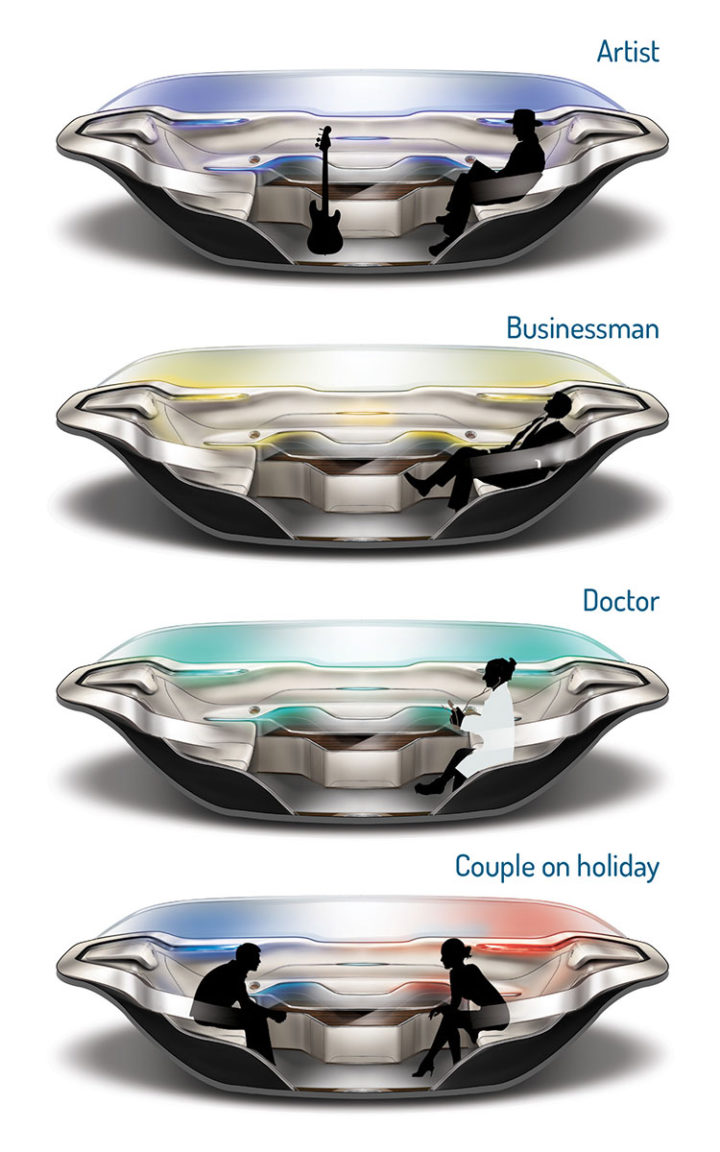 IED Pininfarina InsideOut Concept - Interior design variants