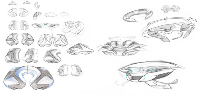 IED Pininfarina Morphing Arena Concept - Design Sketches