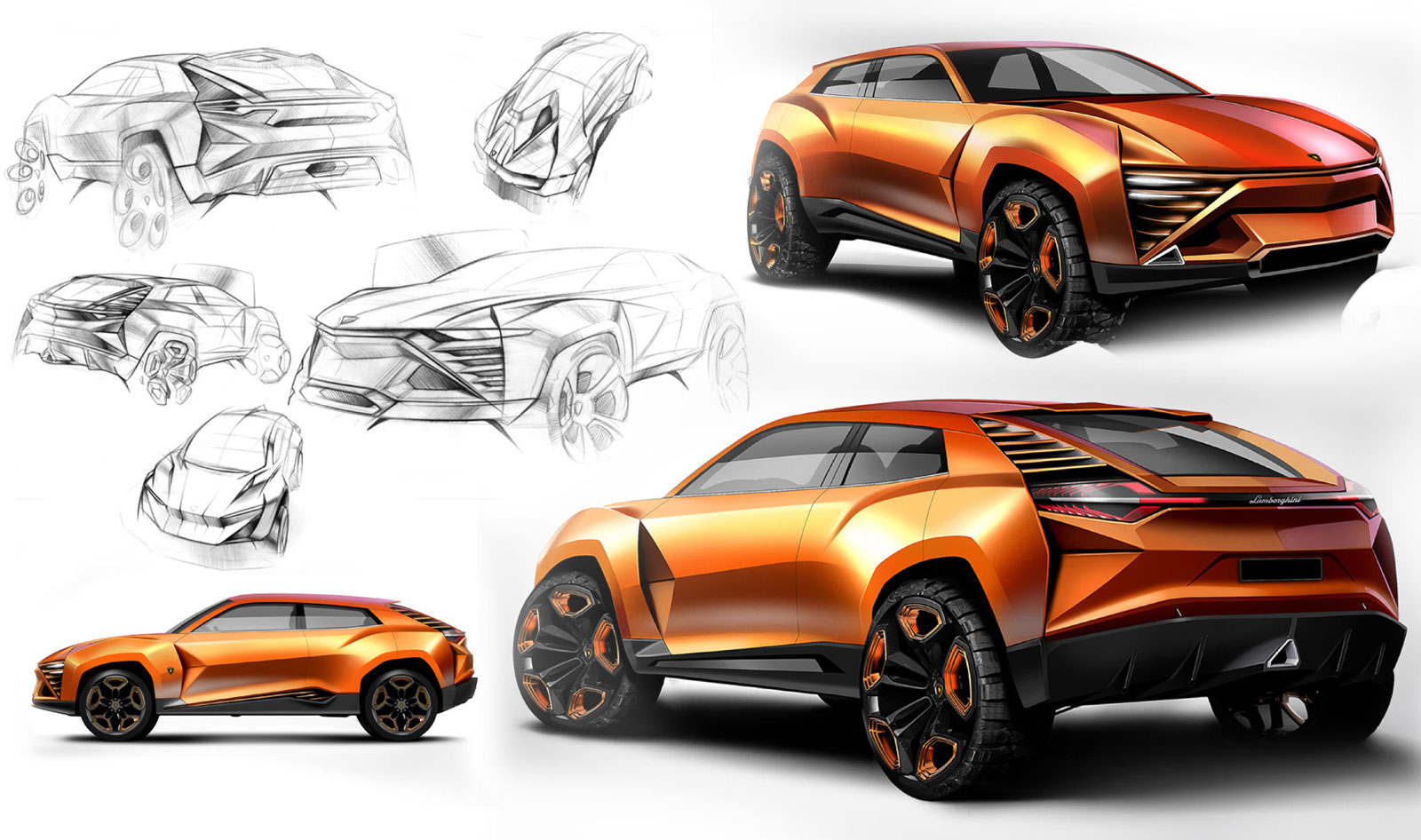 Lamborghini Concept Design Sketches Car Body Design