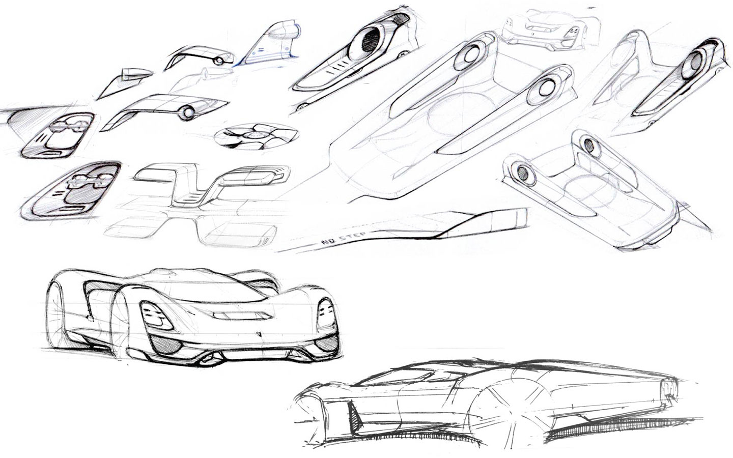 Porsche 908-04 Concept Design Sketches