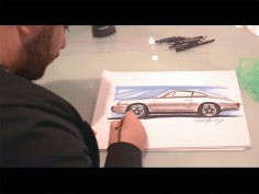 Porsche sketching using Copic markers