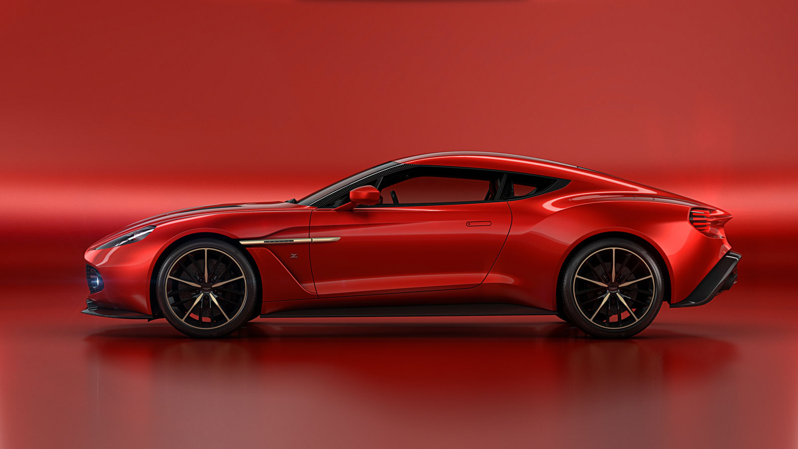 Aston Martin Vanquish Zagato Concept Side View Car Body Design