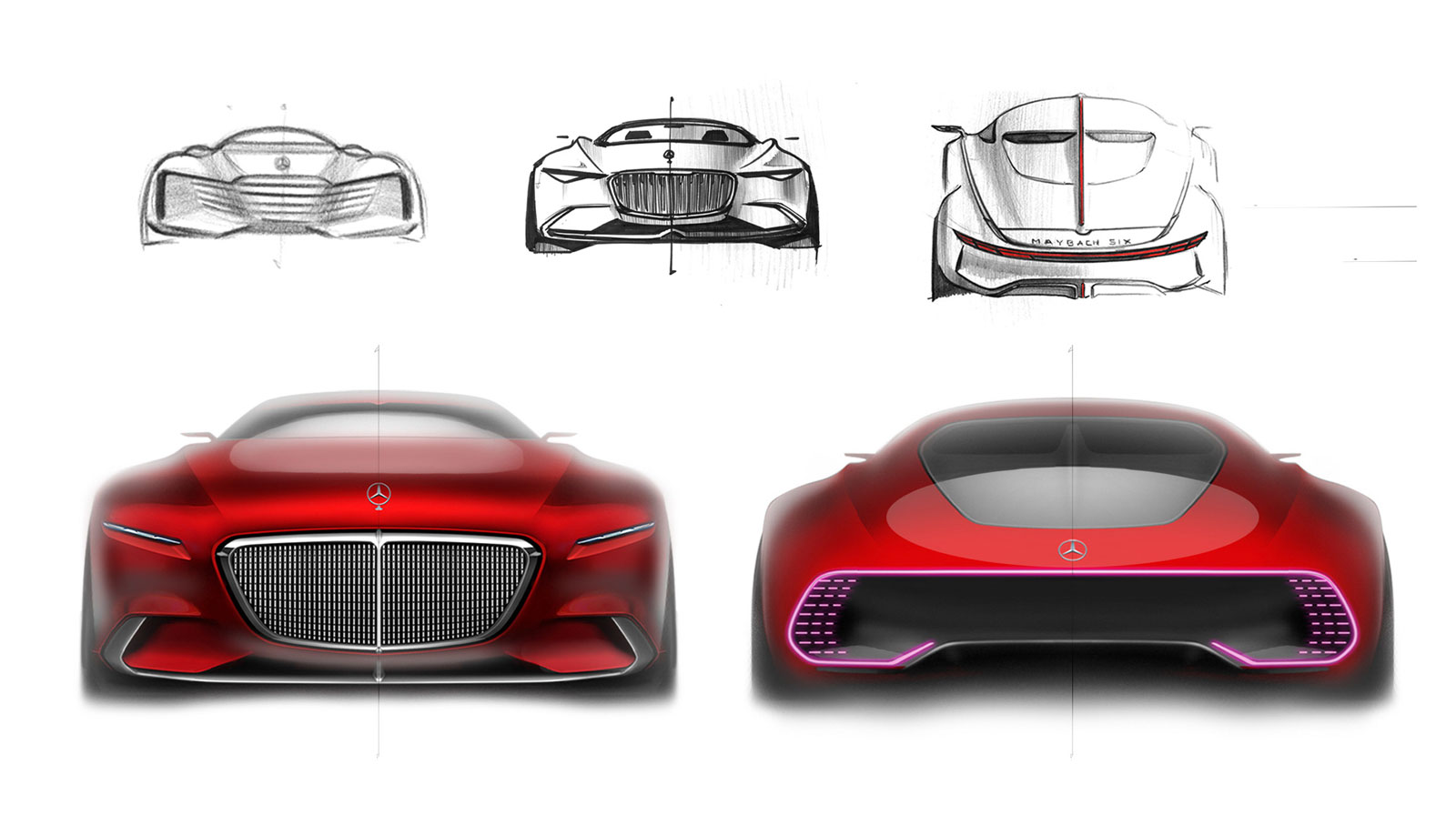 vision mercedes maybach 6 concept design sketches