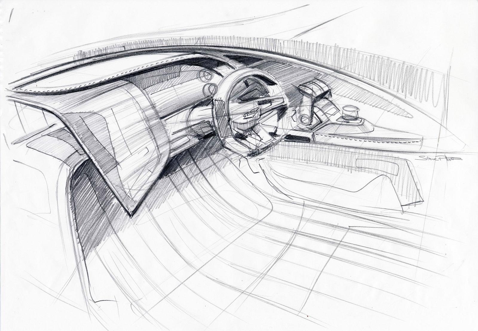Aston Martin Am37 Powerboat Interior Design Sketch Car