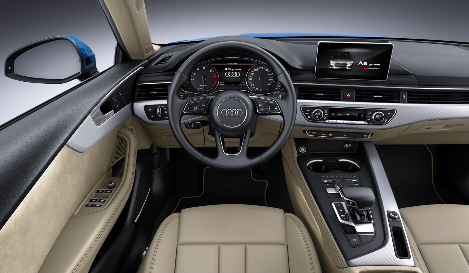Audi A5 Sportback G Tron Interior Car Body Design