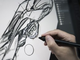 BMW Motorrad Vision Next 100 Concept Design Sketching on the Cintiq