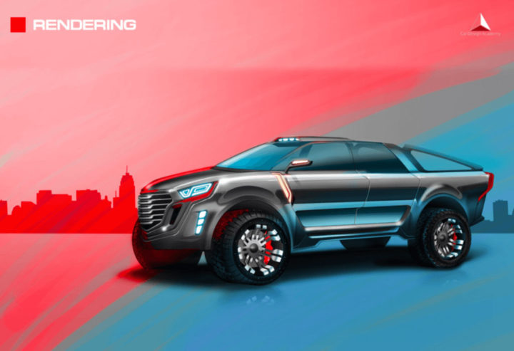 2 design sketch by car design academy students