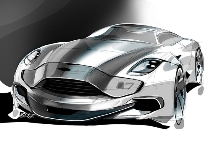5 design sketch by car design academy students