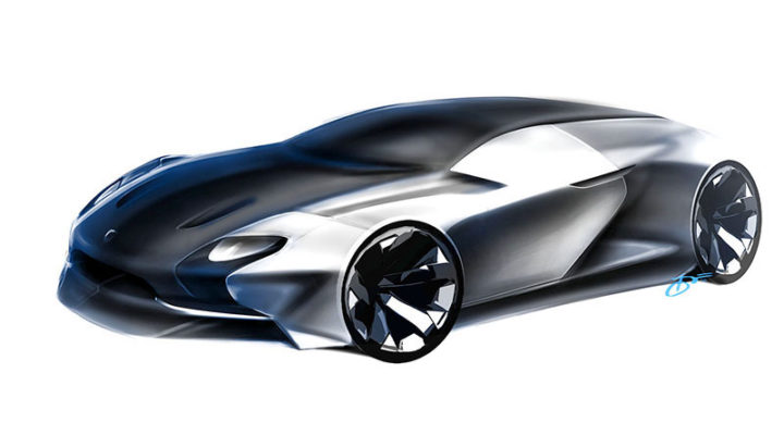 6 design sketch by car design academy students