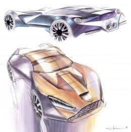 Aston Martin Design Sketch Board