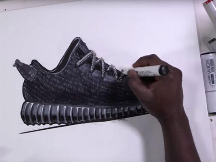 Shoe design sketching video