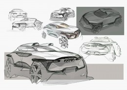 Audi CUV Concept Design Sketches by HJ Lee